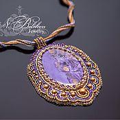 Украшения handmade. Livemaster - original item pendant with charoite. Handmade.