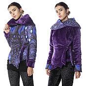 Одежда ручной работы. Ярмарка Мастеров - ручная работа Роскошная двусторонняя очень теплая куртка + 2 снуд и полоска комплект. Handmade.