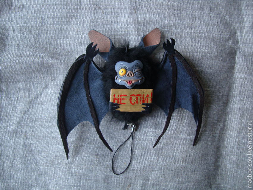 Pendant 'Bat', Year of the Rat, Moscow,  Фото №1