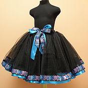 Работы для детей, ручной работы. Ярмарка Мастеров - ручная работа Черная пышная нарядная фатиновая юбочка. Handmade.