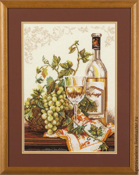 """Натюрморт ручной работы. Ярмарка Мастеров - ручная работа. Купить """"Шардоне"""". Handmade. Бежевый, виноград, вино, натюрморт с фруктами"""