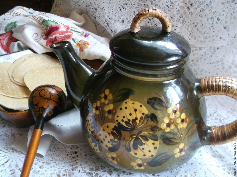 Винтаж: Чайник доливочный. Керамика, Винтажные чайники, Москва, Фото №1