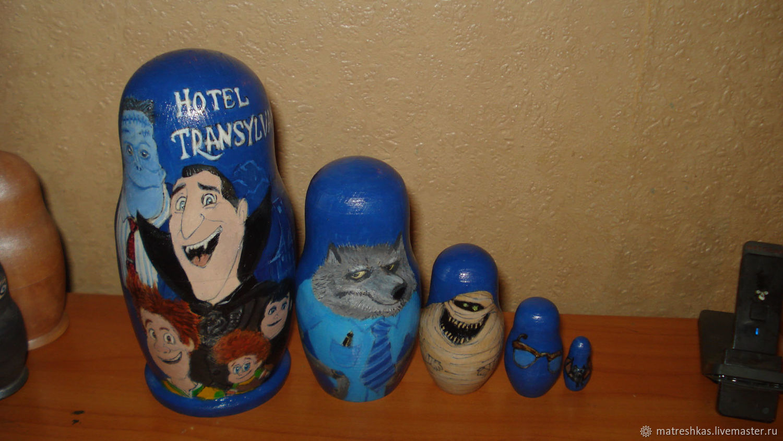 Customized Gifts handmade. Livemaster - handmade. Buy Matryoshka Monsters on vacation.Handmade, new year, combo