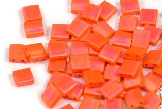 Для украшений ручной работы. Ярмарка Мастеров - ручная работа. Купить Tila 406FR Оранжевый матовый радужный Японский бисер Тила Миюки 5гр. Handmade.