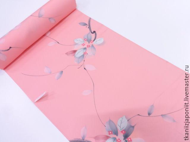 Japanese silk 'Pink spring', Fabric, Chelyabinsk,  Фото №1