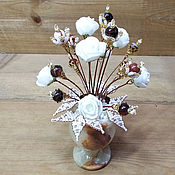 Цветы и флористика handmade. Livemaster - original item BOUQUETS: Flowers from sardonyx