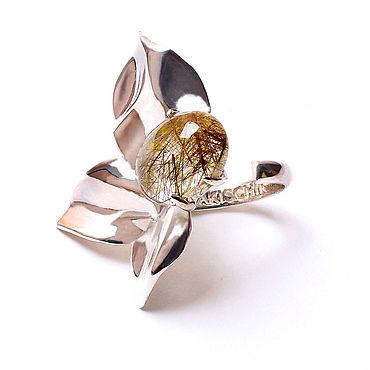 """Украшения ручной работы. Ярмарка Мастеров - ручная работа """"Шестое Чувство"""" кольцо из серебра с рутиловым кварцем. Handmade."""