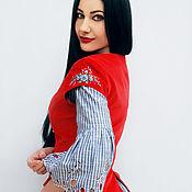 """Одежда handmade. Livemaster - original item Эксклюзивный комплект - платье с жилетом """"Весна-Красна"""". Handmade."""