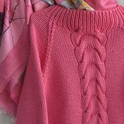 Нежно-малиновый свитер