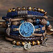 Украшения handmade. Livemaster - original item Bracelet on the arm with azurite boho style