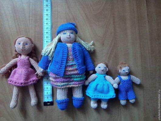 Человечки ручной работы. Ярмарка Мастеров - ручная работа. Купить Вязанные куколки. Handmade. Вязаная игрушка, кукла спицами