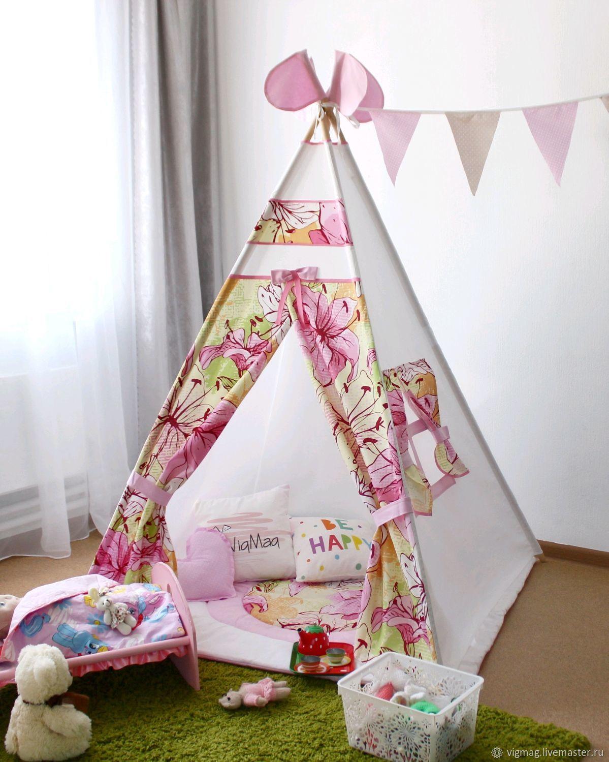 Детский вигвам палатка в комплекте, детский шалаш, игровой домик, Игрушки, Москва, Фото №1