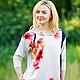 Блузки ручной работы. Ярмарка Мастеров - ручная работа. Купить Блуза Сакура- шелк/трикотаж. Handmade. Блуза из шелка, блузка, бежевый
