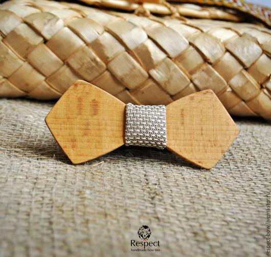 Галстуки, бабочки ручной работы. Ярмарка Мастеров - ручная работа. Купить Деревянная бабочка галстук Фурор Ретро бук / с блестящей перегородкой. Handmade.