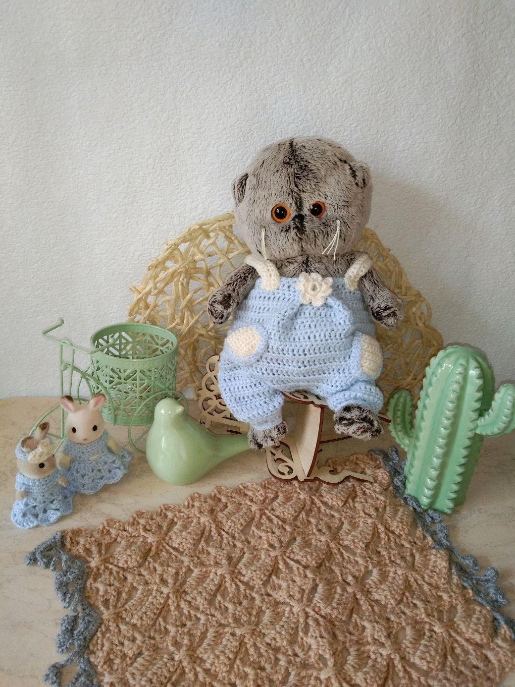 Вязаный комбинезон для Басика и Лили, Одежда для кукол, Шатура,  Фото №1
