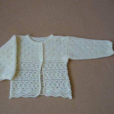 Clothing handmade. Livemaster - original item Openwork jacket with a wide border. Handmade.