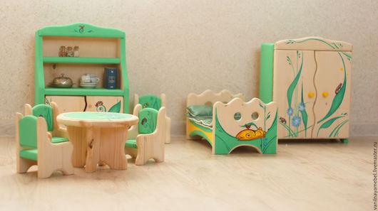 """Кукольный дом ручной работы. Ярмарка Мастеров - ручная работа. Купить Мебель для кукол """"Волшебная полянка""""-2. Handmade."""