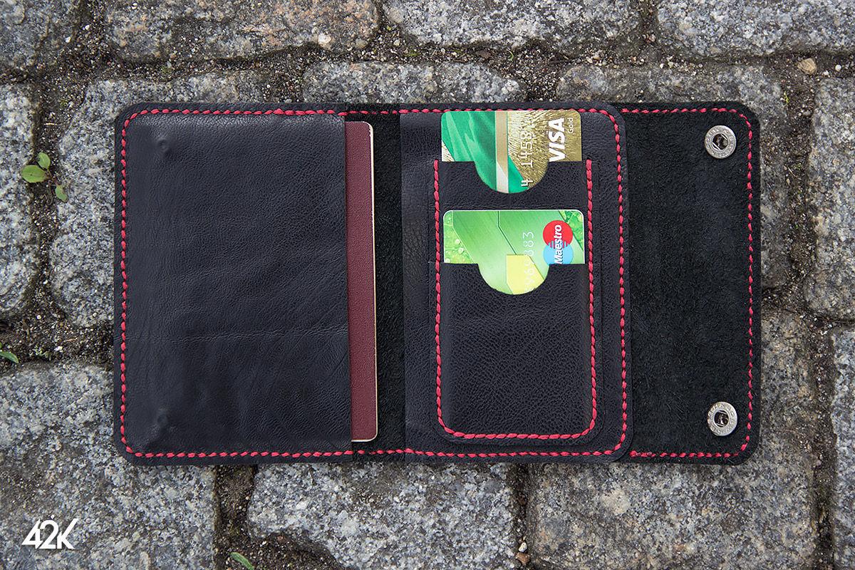 Кошельки и визитницы ручной работы. Ярмарка Мастеров - ручная работа. Купить Бумажник Паспорт +. Handmade. Черный, бумажник