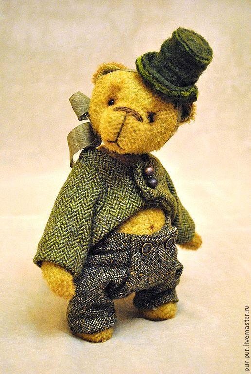"""Мишки Тедди ручной работы. Ярмарка Мастеров - ручная работа. Купить Mr. Эррол (коллекция """"ТВИД- старая Англия""""). Handmade."""