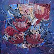 Картины и панно handmade. Livemaster - original item Picture. Purple flowers. Handmade.