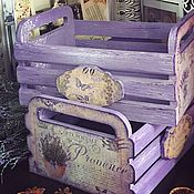 Для дома и интерьера ручной работы. Ярмарка Мастеров - ручная работа Ящички лавандовые, винтажные, декупаж. Handmade.