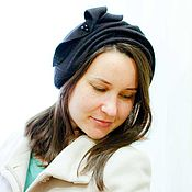 Аксессуары ручной работы. Ярмарка Мастеров - ручная работа Шляпа накладка «черный фетр». Handmade.