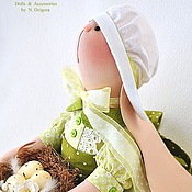 Куклы и игрушки ручной работы. Ярмарка Мастеров - ручная работа Зайка текстильная Липовый цвет. Пасхальная зайка. Handmade.