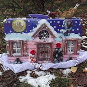 Елочные игрушки ручной работы. Ярмарка Мастеров - ручная работа Чемодан- домик для ёлочных игрушек. Handmade.