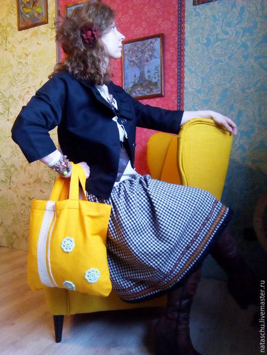 Юбки ручной работы. Ярмарка Мастеров - ручная работа. Купить Теплая юбочка в стиле бохо. Handmade. Коричневый, юбка до колен
