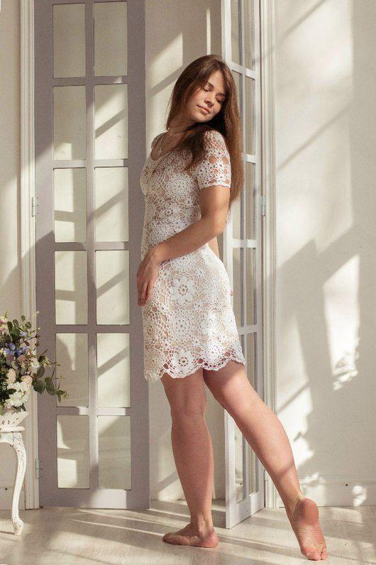 """Платья ручной работы. Ярмарка Мастеров - ручная работа. Купить Платье """"Весенний день"""". Handmade. Белый, платье на лето"""