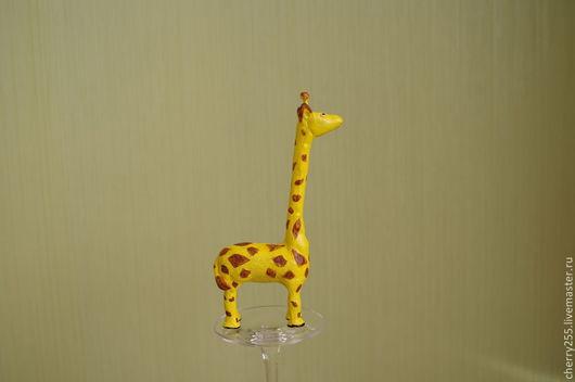 Игрушки животные, ручной работы. Ярмарка Мастеров - ручная работа. Купить Жираф. Handmade. Желтый, глина