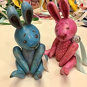 Куклы и игрушки ручной работы. Ярмарка Мастеров - ручная работа Деревянные Зайцы. Handmade.