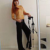 """Одежда ручной работы. Ярмарка Мастеров - ручная работа Вязаные брюки """"Марсала"""". Handmade."""
