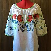 Одежда handmade. Livemaster - original item Women`s blouse embroidered