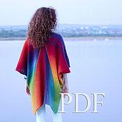 Мастер-класс в PDF Пончо Vibrant color из кауни Описание вязания