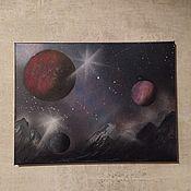 Картины ручной работы. Ярмарка Мастеров - ручная работа Картины: Космический пейзаж. Handmade.