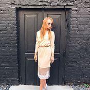 Одежда ручной работы. Ярмарка Мастеров - ручная работа Комплект: комбинация+свитер из ангоры. Handmade.