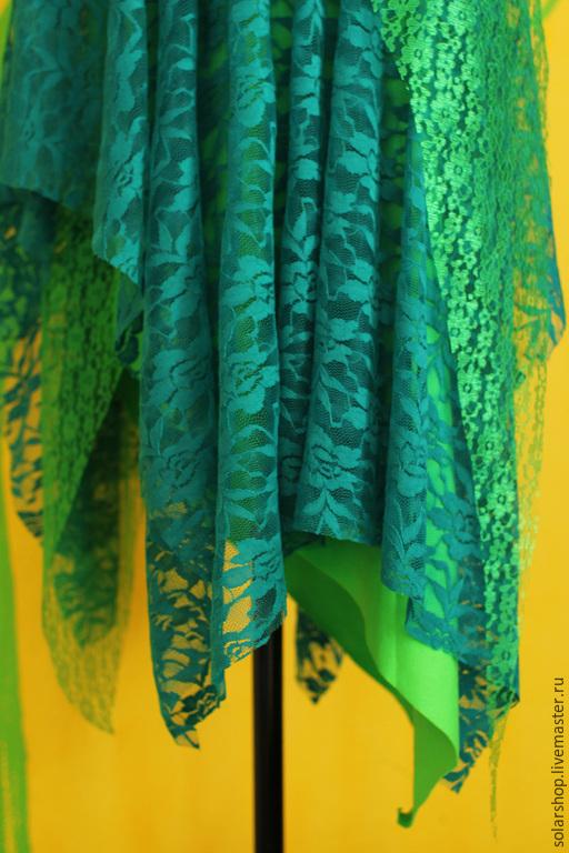 Юбки ручной работы. Ярмарка Мастеров - ручная работа. Купить Юбка Зелёное-бохо :). Handmade. Зеленый, бохо-стиль