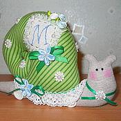 Куклы и игрушки ручной работы. Ярмарка Мастеров - ручная работа Улитка Тильда именная. Handmade.