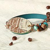 Украшения ручной работы. Ярмарка Мастеров - ручная работа Браслет «Греческий кофе». Handmade.