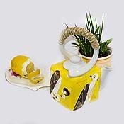Посуда ручной работы. Ярмарка Мастеров - ручная работа Чайник  1 литр. Handmade.