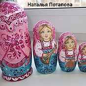 """Русский стиль handmade. Livemaster - original item Matryoshka """" Fun meetings """". Handmade."""