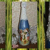 Сувениры и подарки ручной работы. Ярмарка Мастеров - ручная работа РАЗНОЕ оформление бутылок. Handmade.