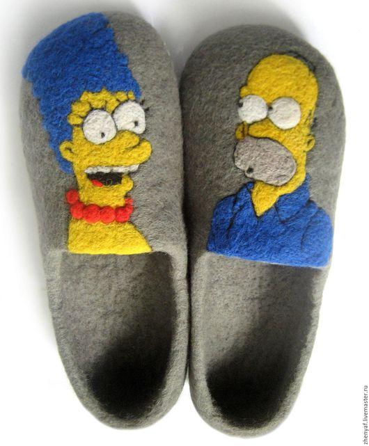 Обувь ручной работы. Ярмарка Мастеров - ручная работа. Купить тапочки валяные. Handmade. Тапки, домашняя обувь, валяные тапочки