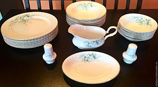 Винтажная посуда. Ярмарка Мастеров - ручная работа. Купить Столовый сервиз Royal Stafford , фарфор, Англия. Handmade. Белый, англия