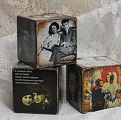 Подарки к праздникам handmade. Livemaster - original item A love story - a poetic series of cubes-cards. Handmade.