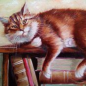 Картины и панно ручной работы. Ярмарка Мастеров - ручная работа Картина маслом Хранитель книг. Handmade.