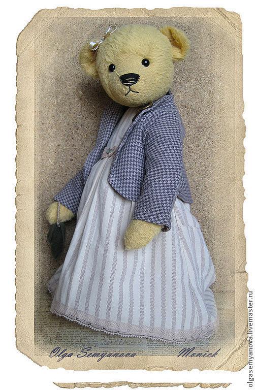 Мишки Тедди ручной работы. Ярмарка Мастеров - ручная работа. Купить Моник. Handmade. Бежевый, вискоза Германия