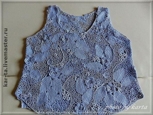 """Блузки ручной работы. Ярмарка Мастеров - ручная работа. Купить Блузка  """"голубая дымка"""". Handmade. Авторская ручная работа, блузка"""