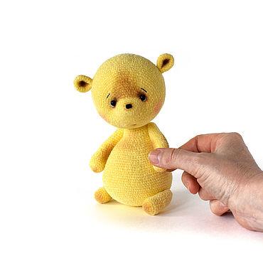 Куклы и игрушки ручной работы. Ярмарка Мастеров - ручная работа Вязаный мишка Одуванчик. Handmade.
